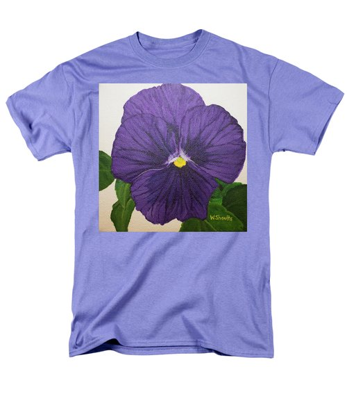 Purple Pansy Men's T-Shirt  (Regular Fit) by Wendy Shoults