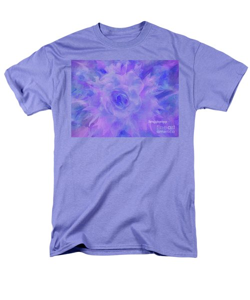 Purple Passion By Sherriofpalmspringsflower Art-digital Painting  Photography Enhancements Tradition Men's T-Shirt  (Regular Fit) by Sherri's Of Palm Springs