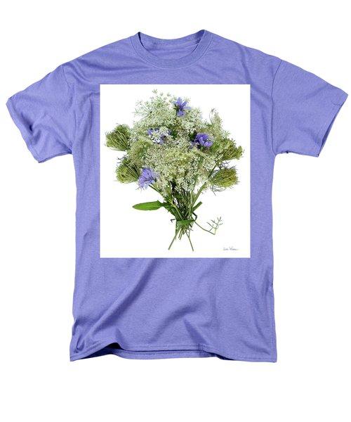 Queen Anne's Lace With Purple Flowers Men's T-Shirt  (Regular Fit) by Lise Winne