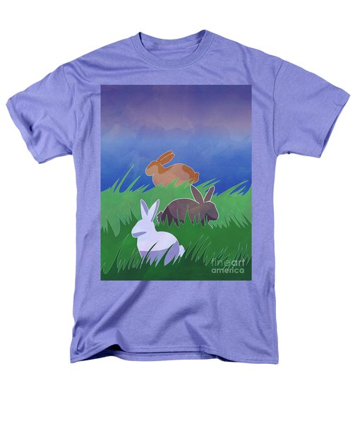 Rabbits Rabbits Rabbits Men's T-Shirt  (Regular Fit) by Whitney Morton