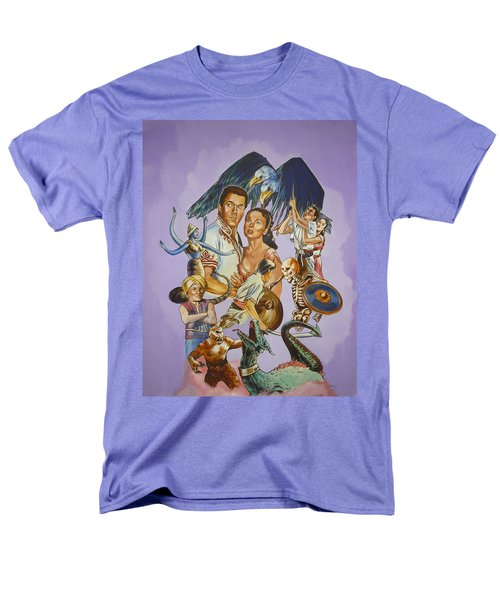 Men's T-Shirt  (Regular Fit) featuring the painting Ray Harryhausen Tribute Seventh Voyage Of Sinbad by Bryan Bustard
