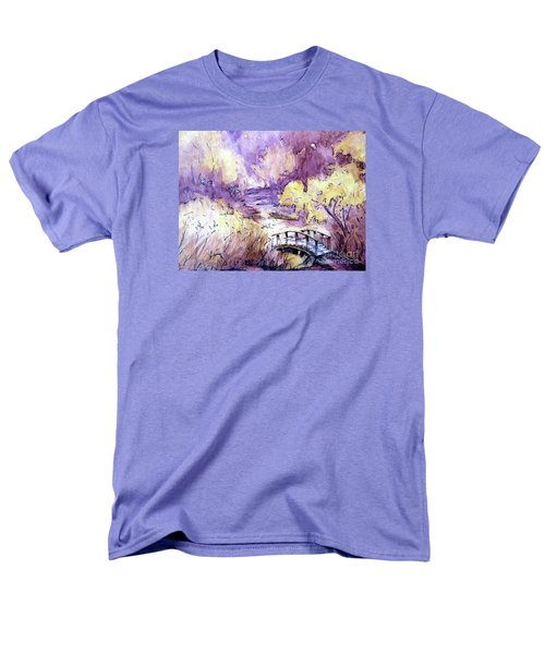Men's T-Shirt  (Regular Fit) featuring the painting Red Top Mountain Bridge by Gretchen Allen