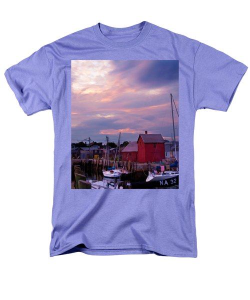Rockport Sunset Over Motif #1 Men's T-Shirt  (Regular Fit) by Jeff Folger