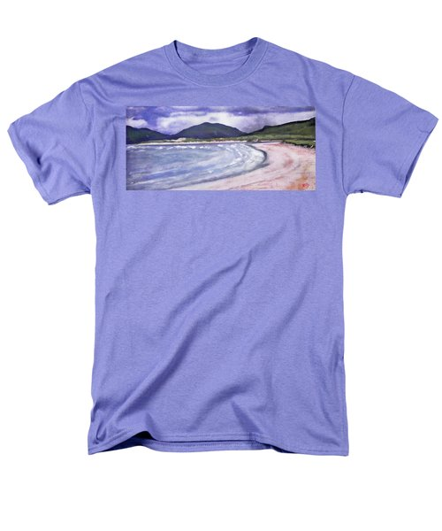 Men's T-Shirt  (Regular Fit) featuring the painting Sands, Harris by Richard James Digance