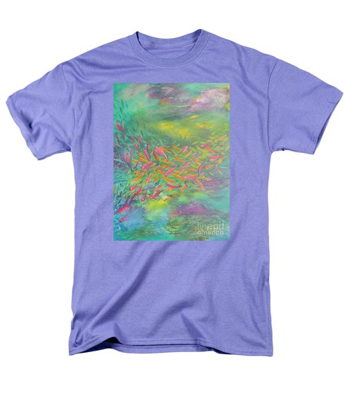 Men's T-Shirt  (Regular Fit) featuring the painting Searching by Lyn Olsen