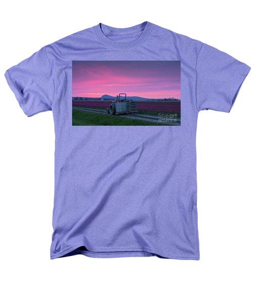 Men's T-Shirt  (Regular Fit) featuring the photograph Skagit Valley Dusk Calm by Mike Reid