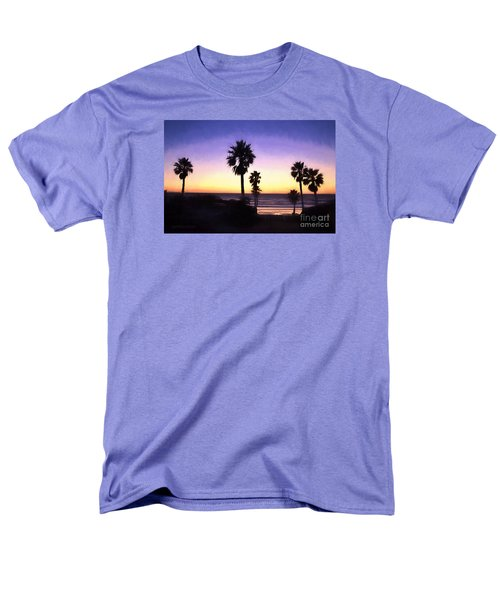 Solana Beach Sunset - Digital Painting Men's T-Shirt  (Regular Fit) by Sharon Soberon