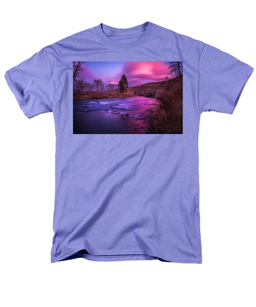 Spring Sunset Along The Truckee River Reno Nevada Men's T-Shirt  (Regular Fit) by Scott McGuire