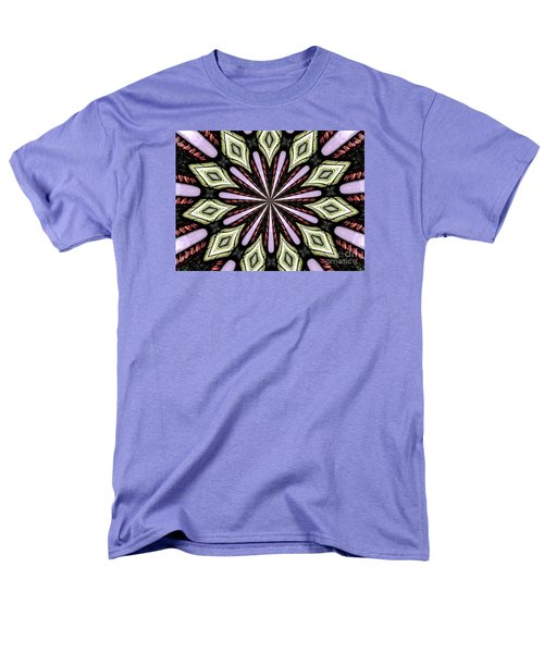 Men's T-Shirt  (Regular Fit) featuring the photograph Stained Glass Kaleidoscope 25 by Rose Santuci-Sofranko
