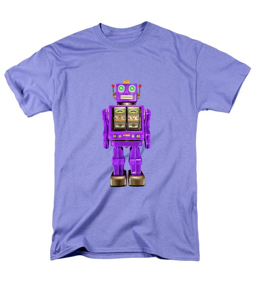 Men's T-Shirt  (Regular Fit) featuring the photograph Star Strider Robot Purple On Black by YoPedro