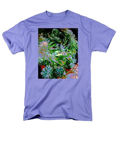 Men's T-Shirt  (Regular Fit) featuring the photograph Succulent Pot by M Diane Bonaparte