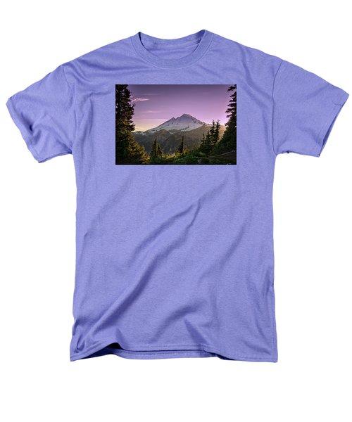 Sunset At Mt. Baker Men's T-Shirt  (Regular Fit) by Sabine Edrissi