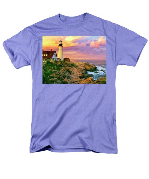Sunset At Portland Head Men's T-Shirt  (Regular Fit) by Dominic Piperata