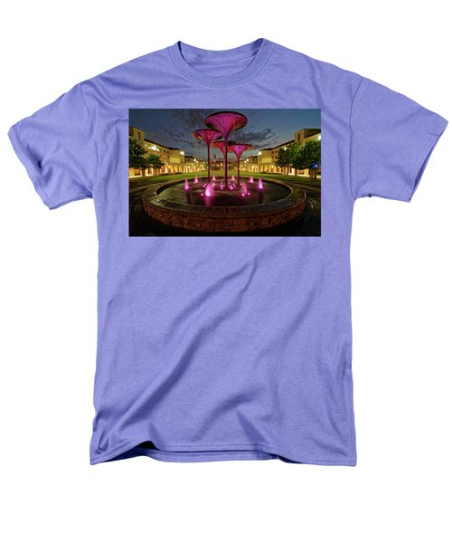 Men's T-Shirt  (Regular Fit) featuring the photograph Tcu Frog Fountain by Jonathan Davison