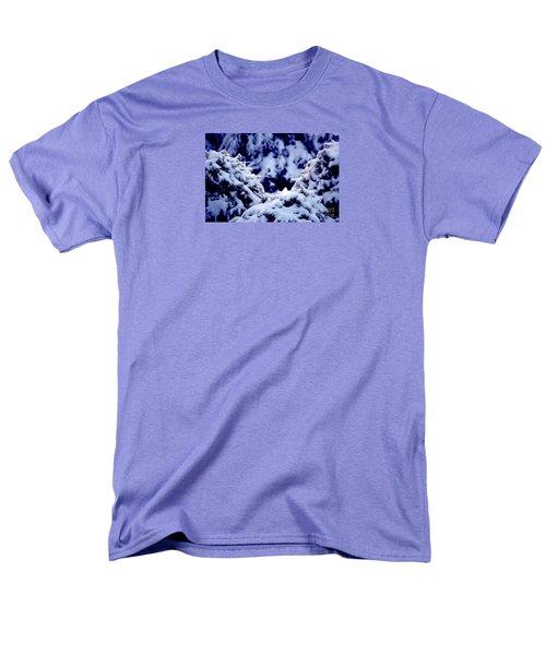 Men's T-Shirt  (Regular Fit) featuring the photograph The Deep Blue - Winter Wonderland In Switzerland by Susanne Van Hulst