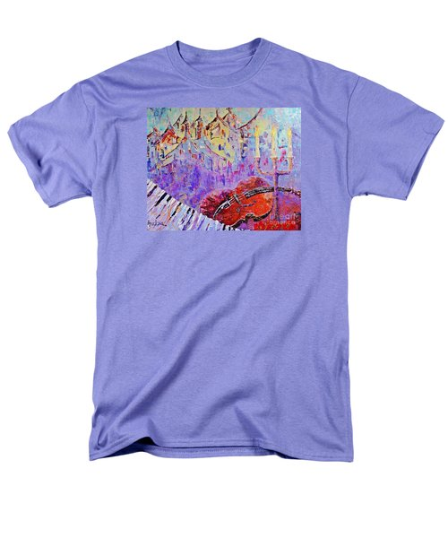 Men's T-Shirt  (Regular Fit) featuring the painting The Music Of The Silence by AmaS Art