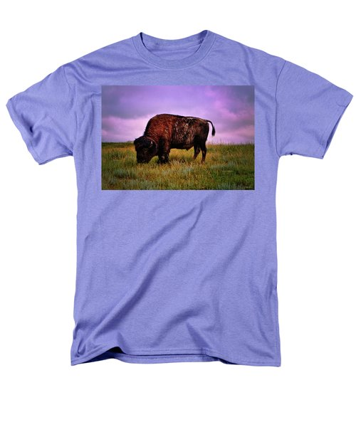 Men's T-Shirt  (Regular Fit) featuring the photograph Theodore Roosevelt National Park 008 - Buffalo by George Bostian