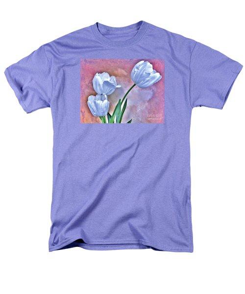 Three White Tulips Men's T-Shirt  (Regular Fit) by Marsha Heiken