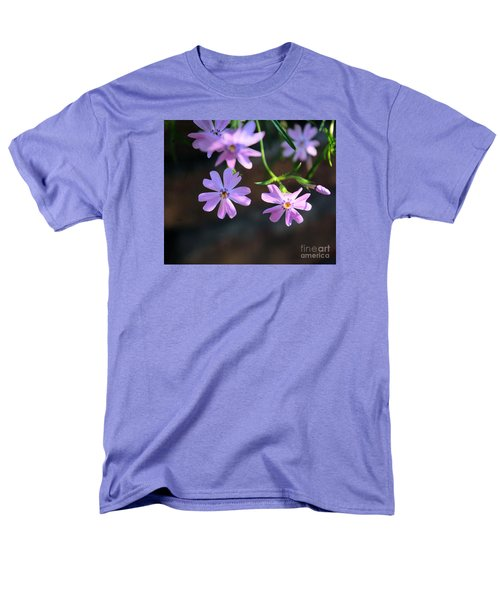 Tiny Pink Flowers Men's T-Shirt  (Regular Fit) by John S