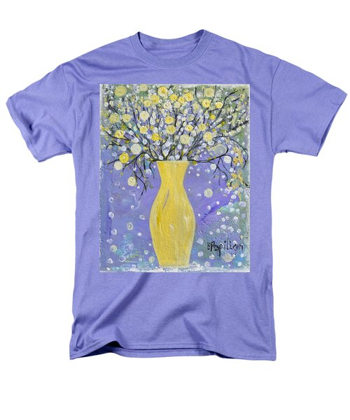 Men's T-Shirt  (Regular Fit) featuring the painting To Brighten Your Evening by Evelina Popilian