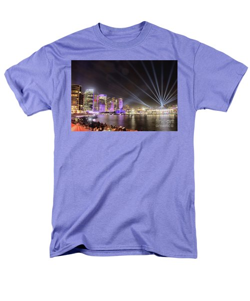 Vivid Sydney Skyline By Kaye Menner Men's T-Shirt  (Regular Fit)