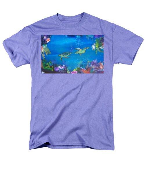 Men's T-Shirt  (Regular Fit) featuring the painting Wait For Me by Lyn Olsen