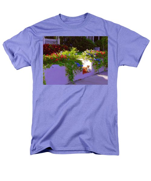 Men's T-Shirt  (Regular Fit) featuring the painting Waiting For Friends by David  Van Hulst