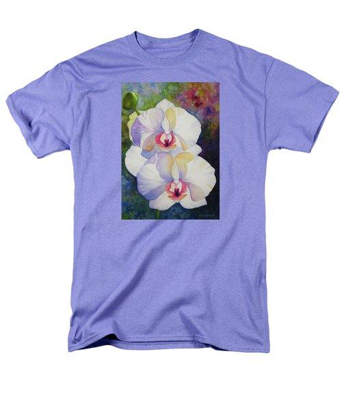White Orchids Men's T-Shirt  (Regular Fit) by Kerri Ligatich