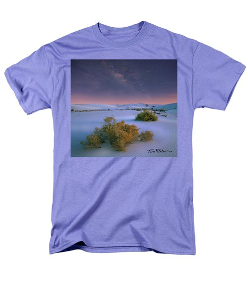 White Sands Starry Night Men's T-Shirt  (Regular Fit) by Tim Fitzharris