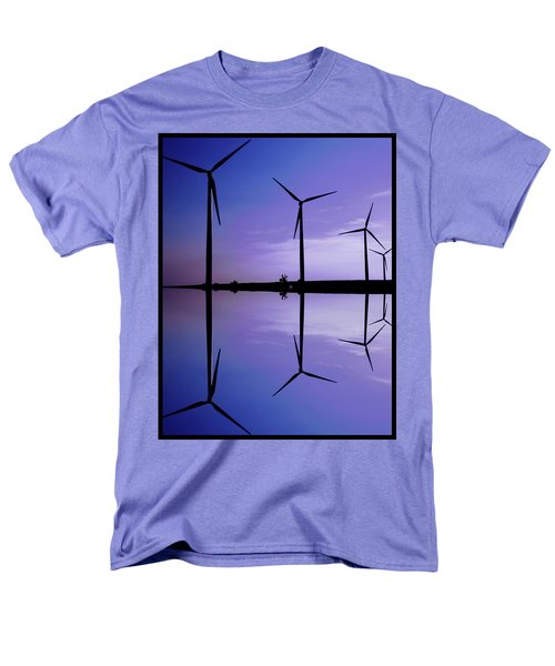 Wind Energy Turbines At Dusk Men's T-Shirt  (Regular Fit) by Bob Pardue