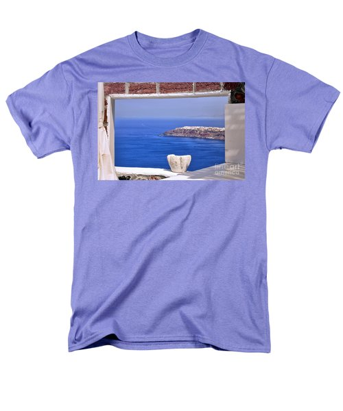 Window View To The Mediterranean Men's T-Shirt  (Regular Fit) by Madeline Ellis