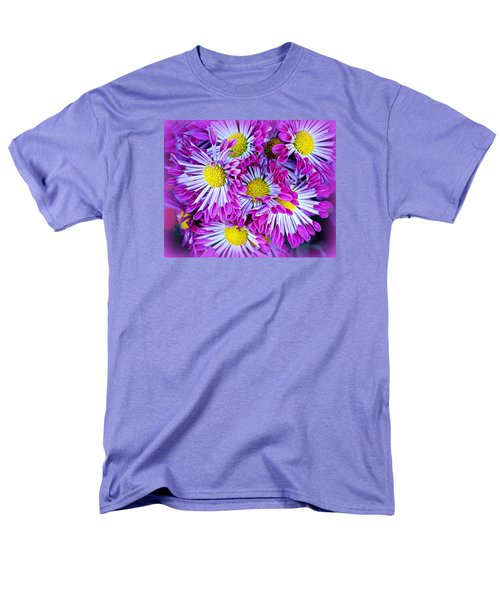 Men's T-Shirt  (Regular Fit) featuring the photograph Yellow Purple And White by AJ  Schibig
