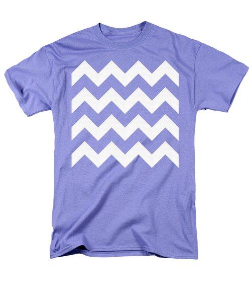 Men's T-Shirt  (Regular Fit) featuring the digital art Zig Zag - White - Transparent by Chuck Staley