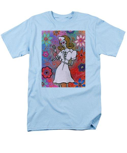 Dia De Los Muertos Nurse Men's T-Shirt  (Regular Fit)