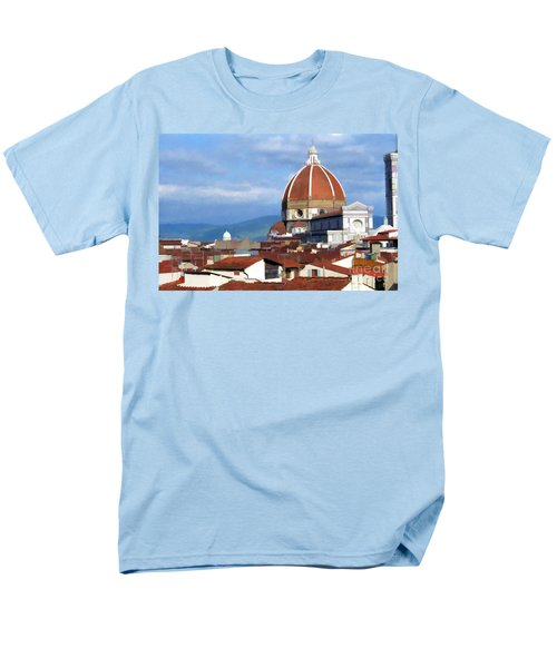 Men's T-Shirt  (Regular Fit) featuring the photograph  Duomo Of Florence # 3 by Allen Beatty