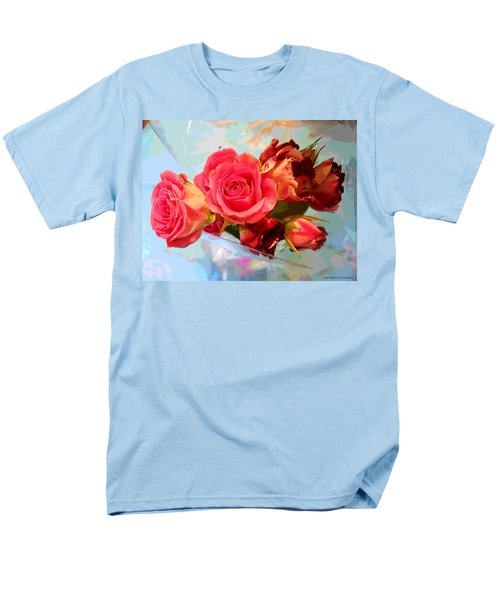 Men's T-Shirt  (Regular Fit) featuring the photograph  Roses 4 Lovers  by Rogerio Mariani
