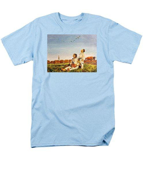 End Of The Summer- The Storks Men's T-Shirt  (Regular Fit) by Henryk Gorecki