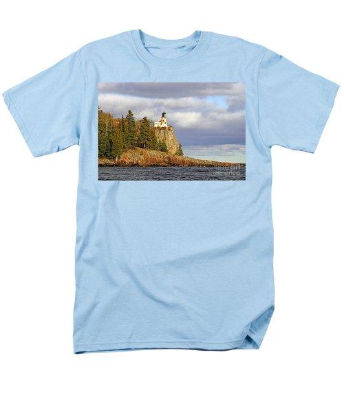 0376 Split Rock Lighthouse Men's T-Shirt  (Regular Fit) by Steve Sturgill