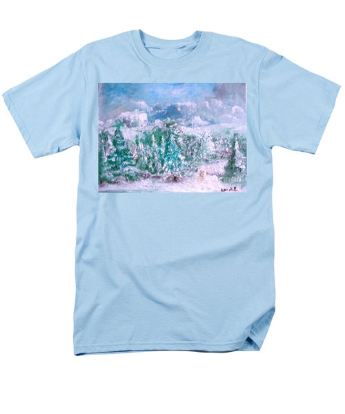 Men's T-Shirt  (Regular Fit) featuring the painting A Natural Christmas by Laurie L