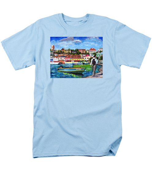 A Stroll On The Carenage Men's T-Shirt  (Regular Fit) by Laura Forde