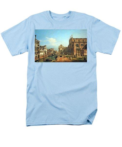 Bellotto's The Campo Di Ss. Giovanni E Paolo In Venice Men's T-Shirt  (Regular Fit) by Cora Wandel