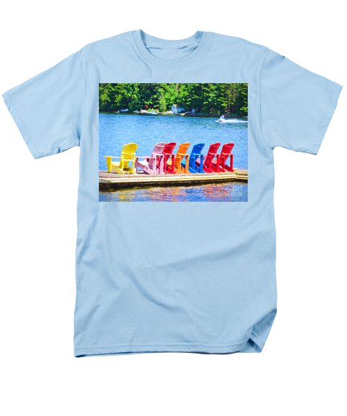 Colorful Chairs Men's T-Shirt  (Regular Fit) by Les Palenik