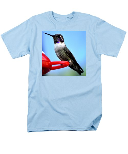 Men's T-Shirt  (Regular Fit) featuring the photograph Male Anna On Perch by Jay Milo