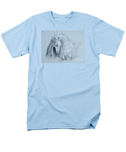 Men's T-Shirt  (Regular Fit) featuring the painting Grey Horse by Laurianna Taylor