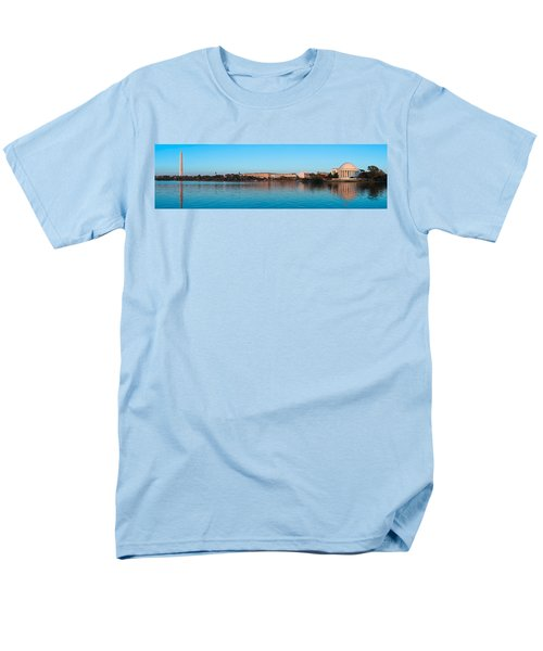 Jefferson Memorial And Washington Men's T-Shirt  (Regular Fit) by Panoramic Images