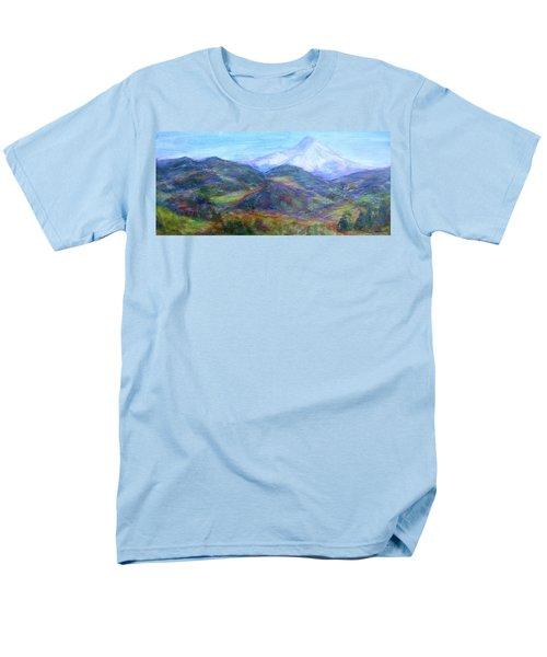 Mountain Patchwork Men's T-Shirt  (Regular Fit) by Quin Sweetman