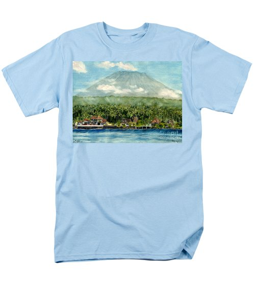 Men's T-Shirt  (Regular Fit) featuring the painting Mt. Agung Bali Indonesia by Melly Terpening