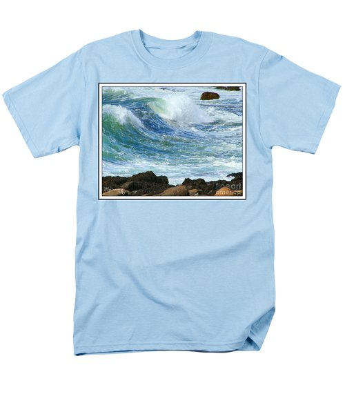 Men's T-Shirt  (Regular Fit) featuring the photograph Rough Seas by Mariarosa Rockefeller