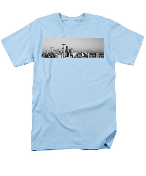 Skyline, Seattle, Washington State, Usa Men's T-Shirt  (Regular Fit) by Panoramic Images