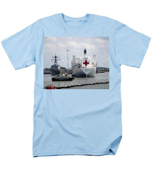 Us Naval Hospital Ship Comfort Men's T-Shirt  (Regular Fit) by Richard Rosenshein